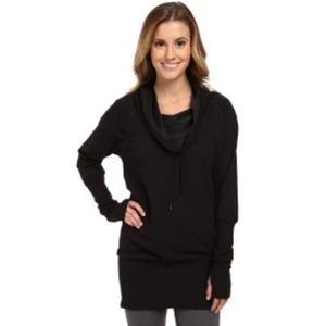 LUCY COWL NECK LONG WIDE WAIST BAND PULLOVER